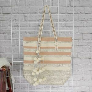 America & Beyond Bags - Morning Mist Oversize Fairtrade Tote Bag